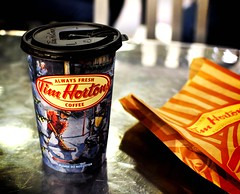 Tim Hortons Coffee ~ Calgary Airport  (r.e. ~) Tags: christmas winter holiday canada calgary coffee caf airport nikon canadian alberta donut mapleleaf timhortons yyc d5000