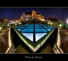 St Eustache ( chatelet) (Romain sauze...come back ..) Tags: light paris france st night nikon raw lumire fisheye fontaine nuit hdr couleur francais chatelet lightroom d300 cs3 105mm eustache romainsauze