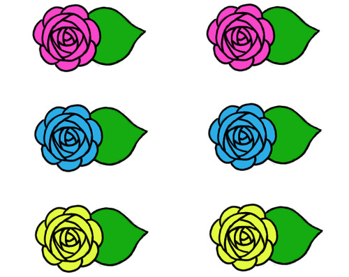 Spring Rose Cupcake Toppers