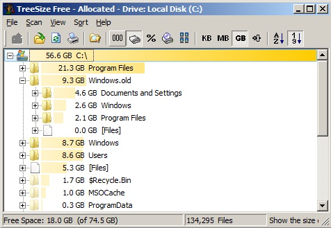 folder size for windows portable