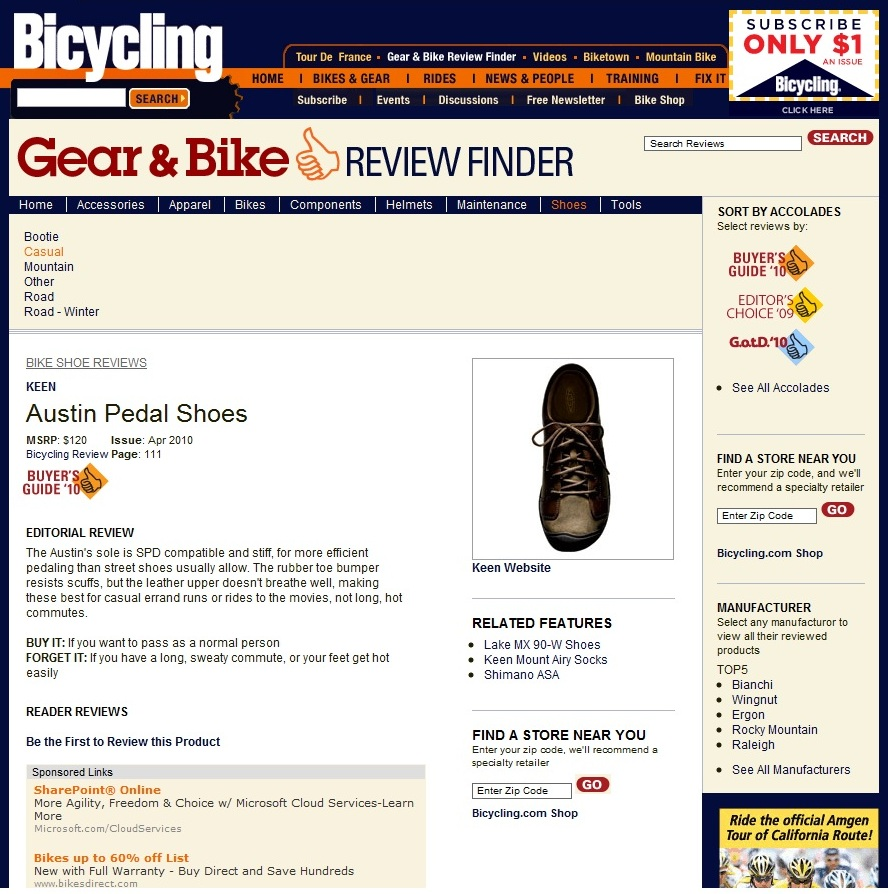 bicycling - 2010 buyers guide - austin pedal