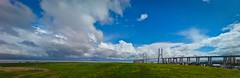 vasco da gama bridge (hugo n.) Tags: bridge sky portugal lisboa lisbon pano ponte tejo vasco k800i gama pdn thisisportugal