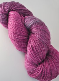 Plum semi-solid on merino/seacell blend