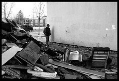 Capharnaüm (tany_kely) Tags: street urban blackandwhite bw white black france lumix noir noiretblanc nb panasonic angoulême shambles rue blanc decayed charente urbain gf1 poitoucharentes capharnaüm emcombrants