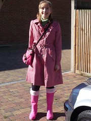 Pretty in Pink (`J.L.`) Tags: england london wellies putney