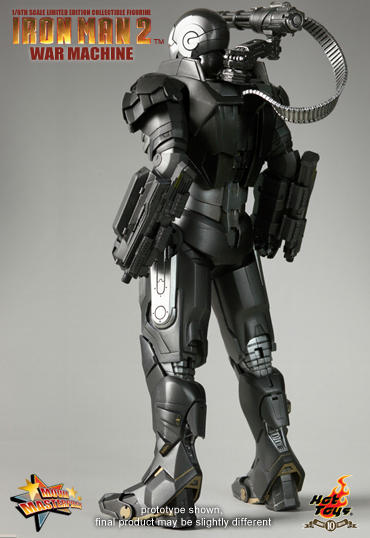 War Machine Hot Toys Limited Edition espalda
