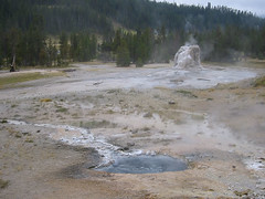 An unconventional look at Lone Star from the hot spring area.  Laurie took a photo in this general area last year.