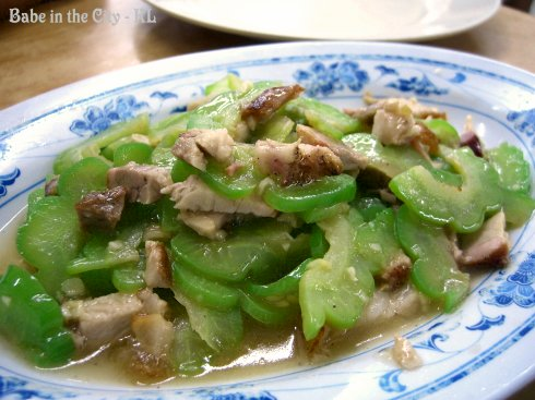 Stir-fried Bittergourd With Siew Yuk