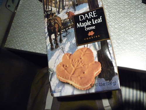 Dare Maple Leaf creme cookies. yum.
