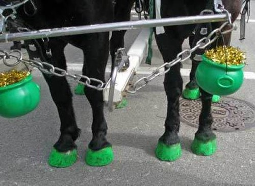 green horse hooves
