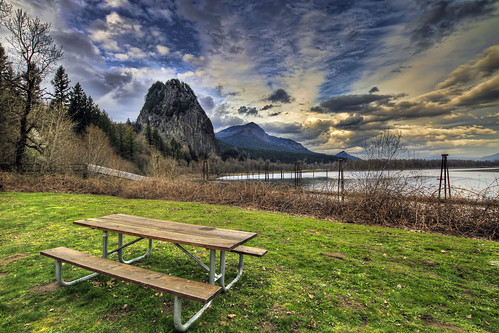 Beacon Rock State Park 2 - Washington - HDR (by David Gn Photography)