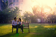 :) (Joseph R) Tags: park india color green love morninglight couple contemporary romantic cheesy senti josephradhik