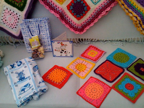 Karin's Squares from the Netherlands arrive today! Thank you so much Karin!