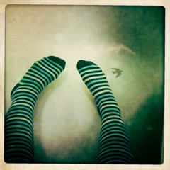 Day 297 | march 19 2010 | FUTAB (ravina sniper) Tags: selfportrait art feet socks stripes 365days futab feetuptakeabreak ravinasniper 365again johnslens hipstamatic inas1969film