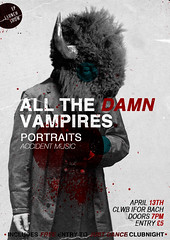 All The Damn Vampires Ep Launch (Poster 2) (nadine ballantyne) Tags: b rock poster design flyer all gig band bach damn welsh nadine vampires 2010 clwb ifor ballantyne