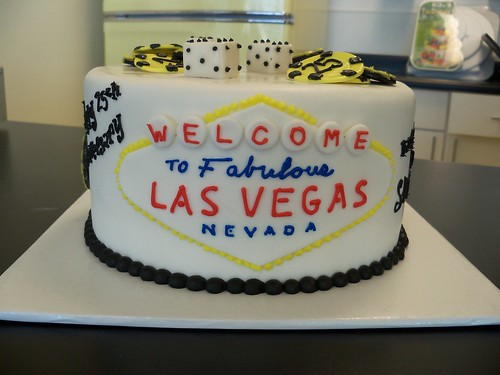 las vegas sign cake. Las Vegas sign, dice, and chips cake. email brian@retrobakerylv.com for details and pricing