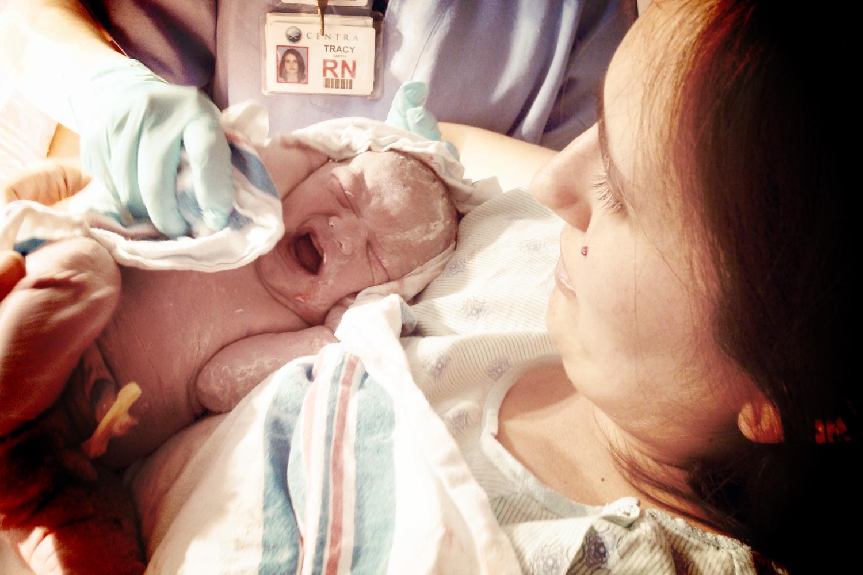Baby Eli, just born.