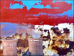 (evisdotter) Tags: abstract texture colors rust paint rost