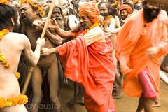 Naga Baba's celebrate the holy bath ritual at the Kumbh Mela 2010, Haridwar (sanjayausta) Tags: pictures people india men saint festival naked nude religious photography bath asia nudes indian faith religion festivals traditions smoking full holy pot exotic photographs gathering take warrior ritual procession bathing nudity marijuana population devotees hindu hinduism dip festivities maha crowds baba sanjay babas largest sadhu 2010 naga rituals mela nagas haridwar the photoessay throngs austa sadhus kumbh photodocumentary ascetics