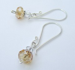 Golden Sands (Glittering Prize - Trudi) Tags: uk glass beads crystal handmade jewellery swarovski earrings trudi sterlingsilver glitteringprize