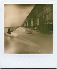 test #5 (davebias) Tags: snow brooklyn polaroid sx70 dock impossible px