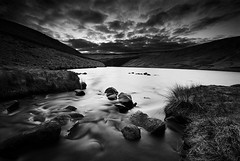Dusk At Greenfield Reservoir (andy_AHG) Tags: water rural walking landscape outdoors hiking yorkshire scenic reservoir streams greenfield rambling britishcountryside saddleworthmoor outdoorpursuits saddleworthphotobooklandscapes