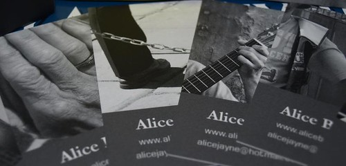 A sneaky look at Alices Business Cards