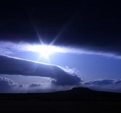 Eldborg (mariamagnus) Tags: blue clouds iceland eldborg flickrunitedaward mariamagnus