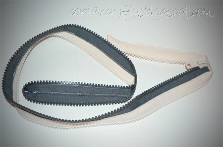 zipper coin purse unzipped