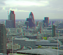 "View of the ""Gherkin"" from the London eye in anaglyph 3D (3dstereopics) Tags: stereoscopic stereophoto stereophotography 3d fuji londoneye anaglyph stereo finepix ferriswheel stereoview bigwheel w1 redblue stereoscopy w3 anaglyphic 3dimensional redblueglasses anaglifo 3danaglyph ttw redcyan redcyanglasses real3d 3dphoto 3dpicture 3dphotograph anaglyph3d anaglyphic3d 3dstereoimage 3dstereopicture"