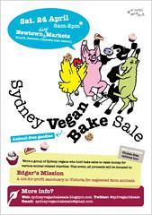 Sydney Vegan Bake Sale - poster