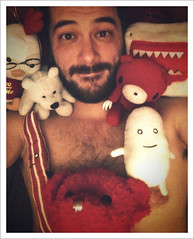 52 Weeks (07): We're Waiting For You! (Sion+Anton) Tags: nyc newyorkcity shirtless portrait hairy self gloomybear athome chickie downshot baconegg monsterpussy antonkawasaki rojothebear gaybeardedmale iphone3gs ilovenybear werewaitingforyou layingonthecouchsurroundedbytheboys camerabagappinstantfilter