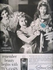 Blue Rose (sugarpie honeybunch) Tags: blue wedding blackandwhite beauty advertising 60s ad 1960s cosmetics seventeen bonnebell tenosix