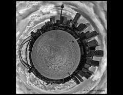 and the world is Sydney (TLP images) Tags: bridge blackandwhite mono globe sydney harbourbridge timlashbrookphotography wwwtimlashbrookphotographycomau