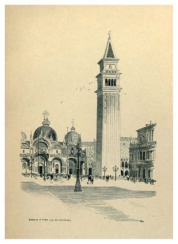 016- Plaza de San Marcos-Venice  a sketch-book 1914- Richards Fred