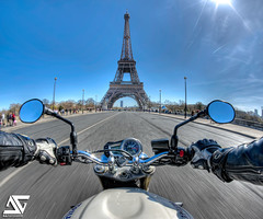 "An ""Englishwoman"" in Paris (A.G. Photographe) Tags: street paris france tower english bar speed drive team nikon driving tour ride eiffeltower joe eiffel harley fisheye riding toureiffel biking triumph moto bmw motorcycle pan suzuki nikkor ducati 16mm panning triple franais parisian kawasaki englishman motard buell gsxr anto motocicleta vitesse fil gymkhana anglais xiii panshot parisien joebarteam anglaise panningshot hdr1raw englishwoman d700 streettriple embarqu"