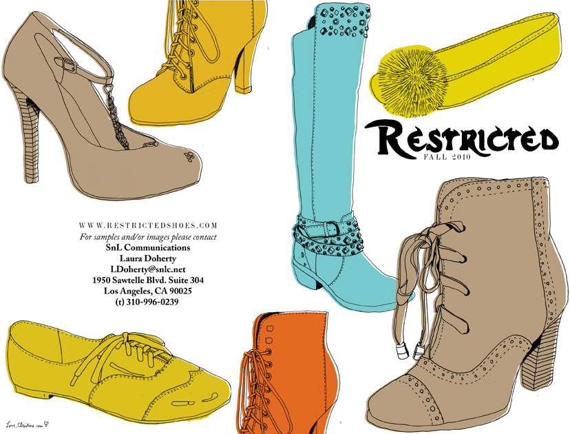 RESTRICTED SHOES LOOKBOOK COVER
