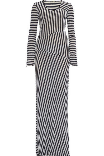 acne stripe jersey dress