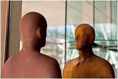 Gormley - Talking Heads (louisberk.com) Tags: london statue gormley greatportlandstreet maryleboneroad leicam8 gormleystatue cvnokton5015