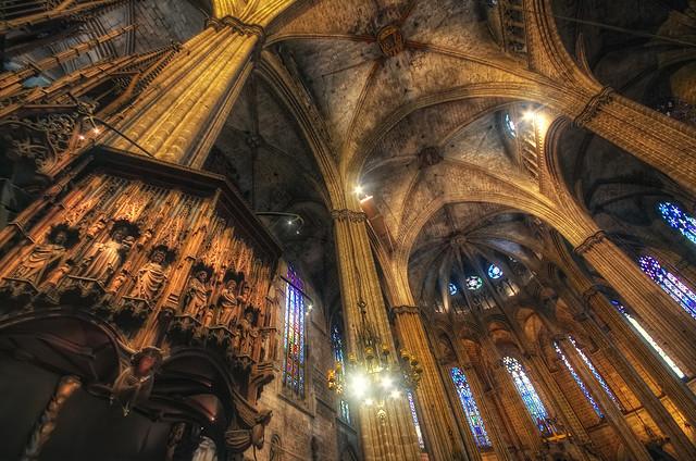 Cathedral of Santa Eulalia – Catedral de Santa Eulalia, Barcelona (Spain) HDR 3