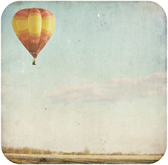 When You Need a Little Lift (SOMETHiNG MONUMENTAL) Tags: sky texture field vintage square farm floating retro hotairballoon drifting somethingmonumental mandycrandell
