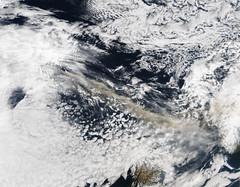 Ash plume from Eyjafjallajokull Volcano - NASA Goddard Photo and Video