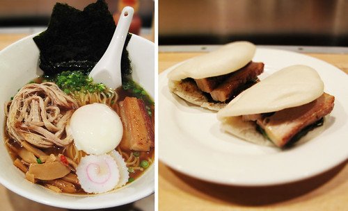 Momofuku Steamed Pork Buns and Ramen