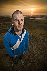 same faces (Stuart Hines) Tags: sunset portrait sky clouds landscape island gun flash sigma stuart cumbria 1020 barrow hines d300 furness walney stobe