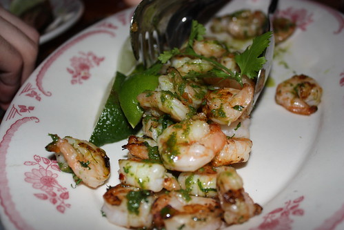 Grilled shrimp; it came after the appetizers, and got very little love, as we were all already full.