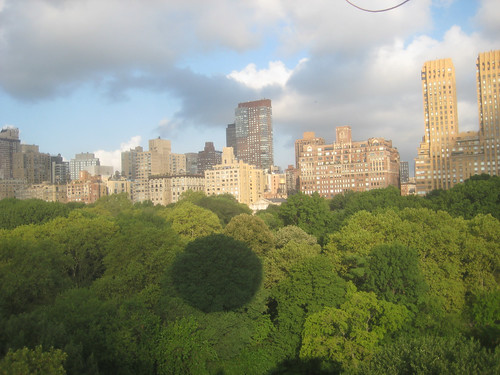 central park west view. West view during Temporary