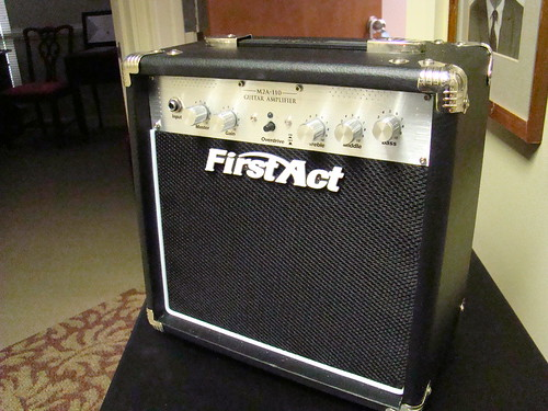 First Act mini guitar amp