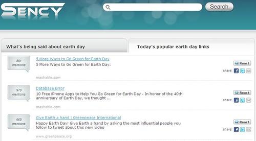 Sency.com search results of popular links