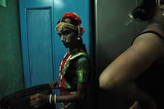Abinaya taking a break (Magdalena Malinowska) Tags: blue gay people urban india dance aids indian traditional traditions ornaments chennai gaze gender tamilnadu transsexual hijra bharatanatyam aravani