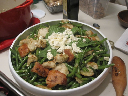 My finished green bean and feta salad